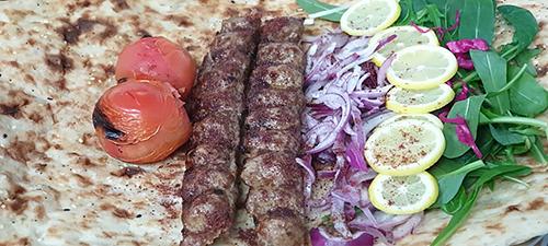 Kabab-Koobideh with Sangak Naan Bread